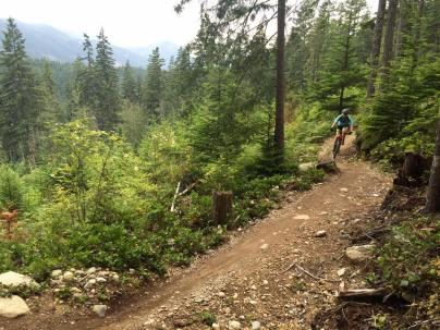 climb to Full Nelson trail, Squamish, British Columbia