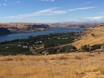 Columbia River Gorge, Washington-Oregon state line