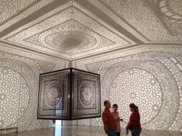 Intersections by Anila Quayyum Agha, Rice University Art Gallery, Houston, Texas