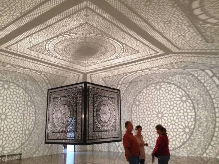 Intersections by Anila Quayyum Agha, Rice University Art Gallery, Houston, Texas