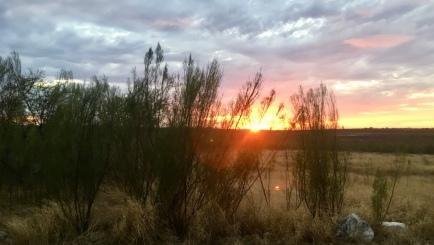 sunset at Amistad