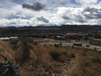 dog walk above Alpine and Sul Ross State University