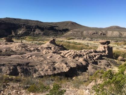 Hoodoos above the Rio Grande