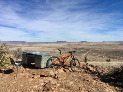 bike and desk