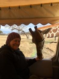 Mom with giraffe