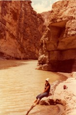 Karen's toes in the Rio Grande, 1980