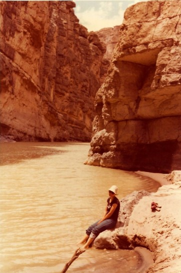 Karen's toes in the Rio Grande, 1980