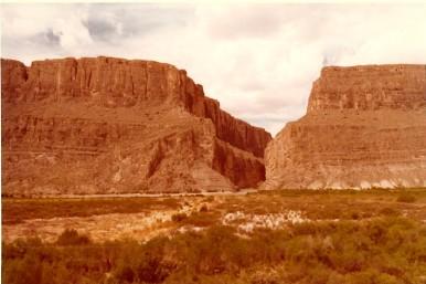 Santa Elena Canyon (?), Rio Grande, 1980