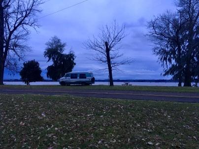 twilit B A Steinhagen Lake