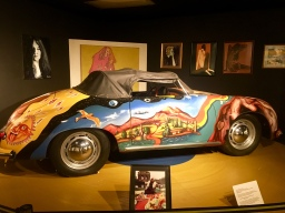 replica of Janis's hand-painted car