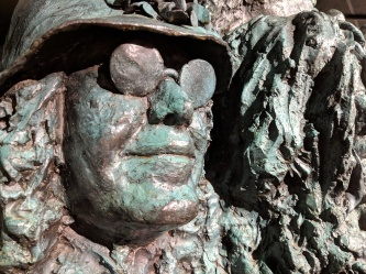 Janis in bronze, close-up