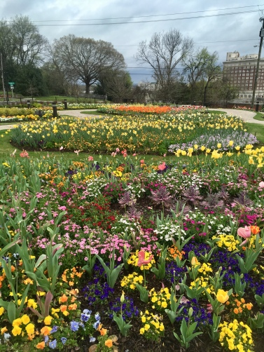 the grounds also include these lovely gardens, as if to give us a breath of life after all that death