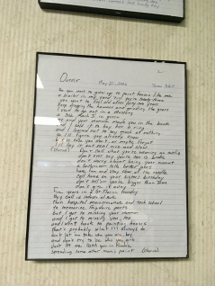 "Isbell's handwritten lyrics, ""Outfit"""