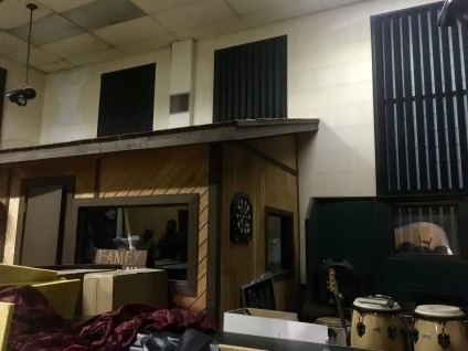 Studio B, the newer, larger space, is a mess right now as they bring in some new equipment