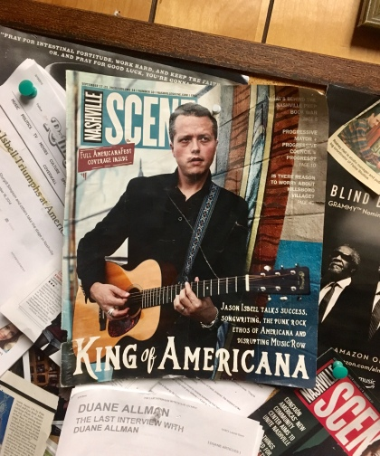 they're very proud of Isbell, who recorded his first three solo albums here