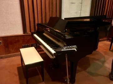piano that Alicia Keys recorded on
