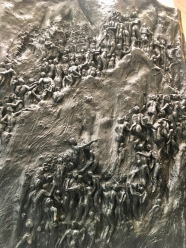 """Movement to Overcome,"" Michael Pavlovsky ""suggests the slow upward climb of the civil rights struggle--a movement that took decades. The sculpture pays tribute to the unknown millions of people who fought for equal rights every day. They marched, struggled, and overcame the obstacles, climbing ever upward."""