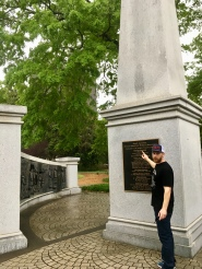 Brad with African American History Monument