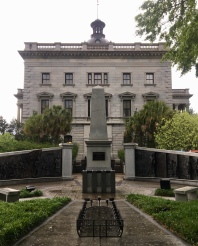 African American History Monument: slave ship at foreground