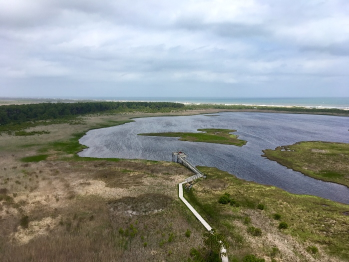 from the top: Outer Banks and ocean