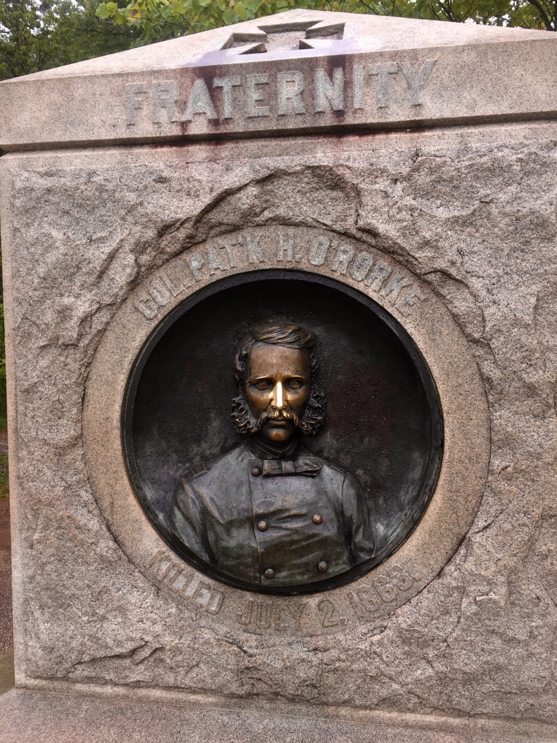Colonel Patrick O'Rorke: I feel the polish on his nose is somewhat undignified (at Little Round Top)