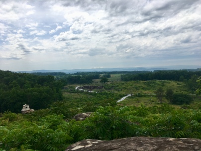 looking at Slaughter Pen, Devil's Den from Little Round Top