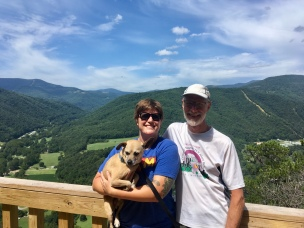 with Pops at Seneca Rocks
