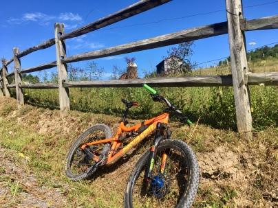 first bike ride from my front door