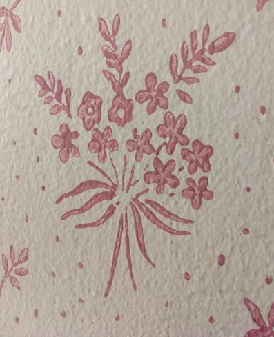 paint stencil (not wallpaper because the patients would eat it)